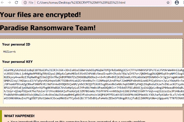 Remover PRT ransomware