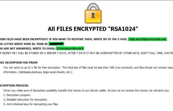 Poistaa Ragnarok ransomware