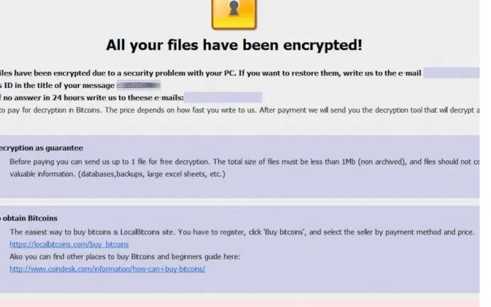 Menghapus .com ransomware