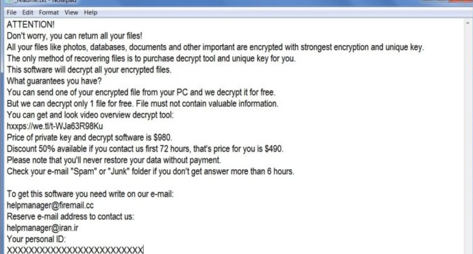 Odebrat Mool ransomware