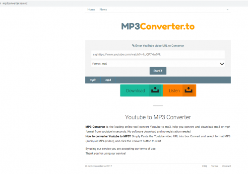 How to remove Mp3converter.to