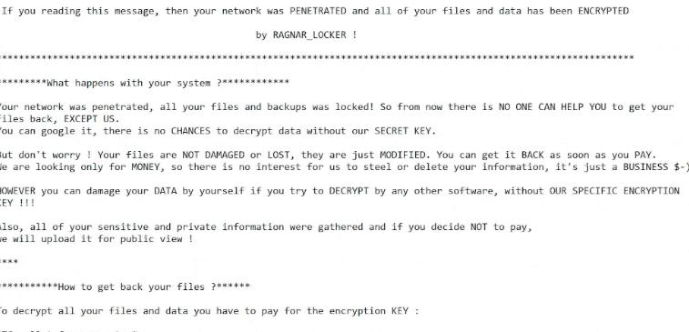 Retirer RagnarLocker ransomware
