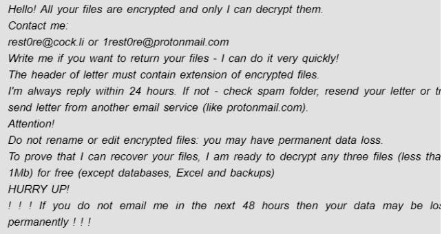 Odebrat Xbvpnvee ransomware