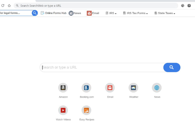 Online Forms Hub browser hijacker