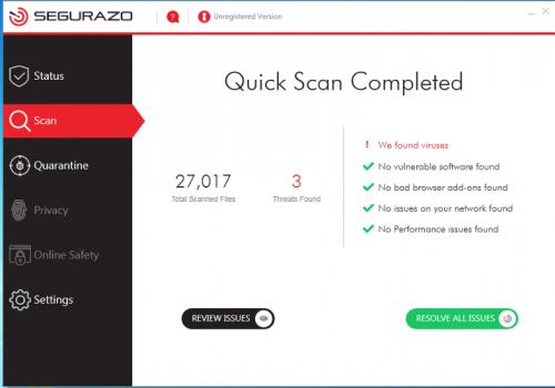 Segurazo Antivirus odstranění kroky [2020]