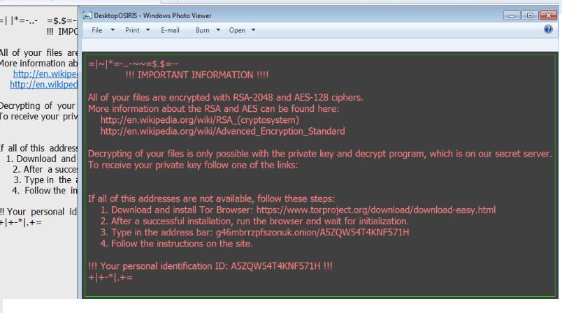 Sekhmet ransomware Eltávolítása
