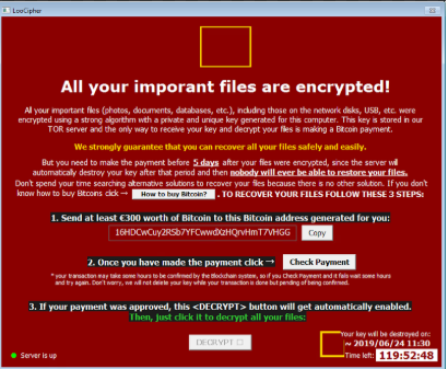 Fjerne CCD ransomware