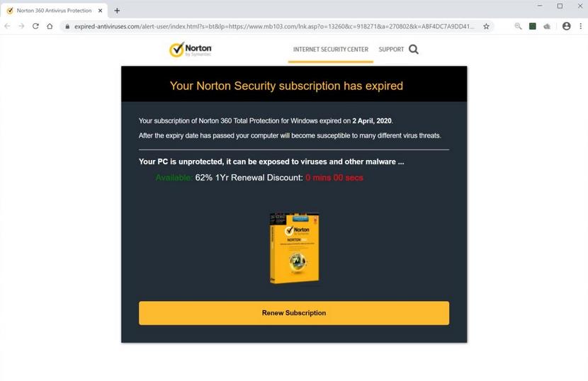 Expired-antiviruses.com Remoção