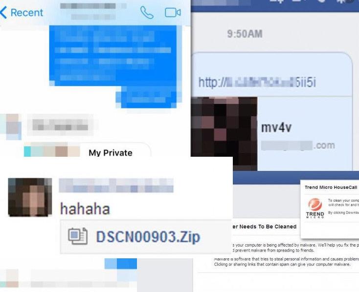 Facebook virus de message vocal