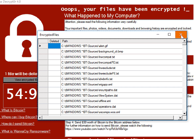 Poistaa Wanna Decrypt0r 4.0 ransomware