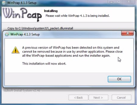 Cara menghapus WinPcap