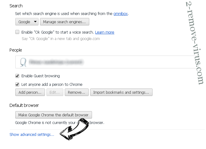 Search.hwatch-tvonline.com Chrome settings more