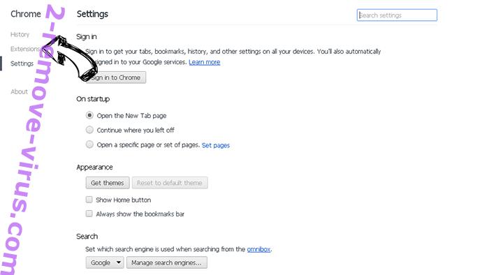 Search.hwatch-tvonline.com Chrome settings