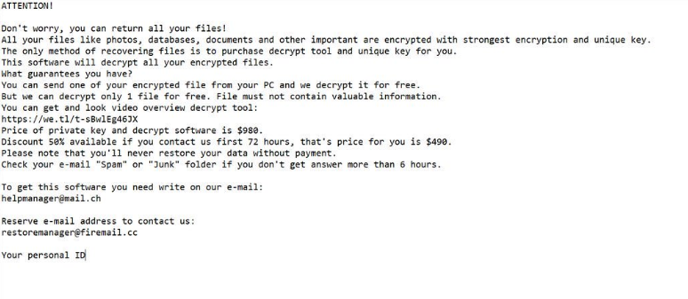 Poistaa COVM ransomware