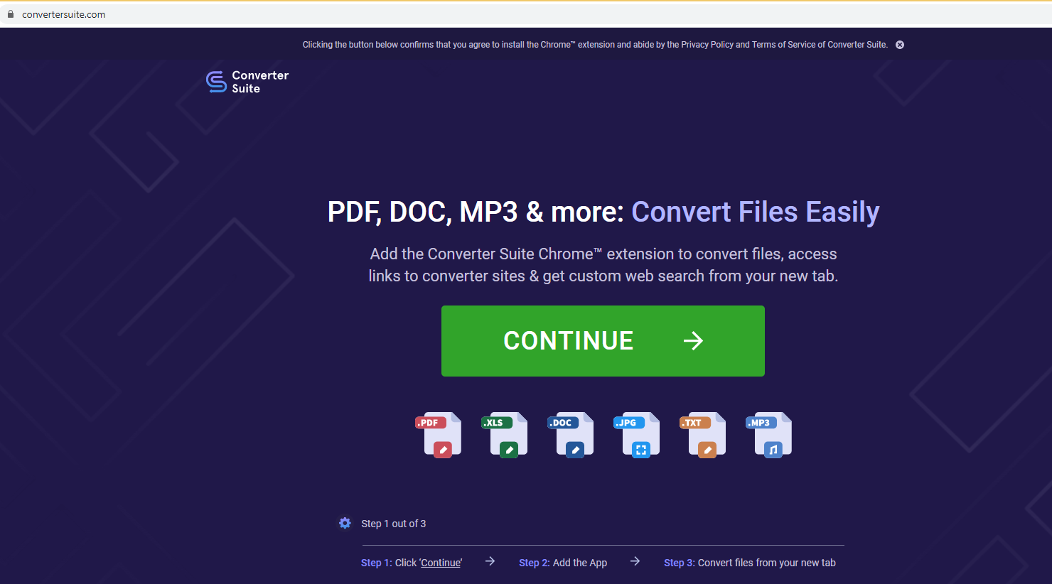 เอา Converter Suite Redirect Virus