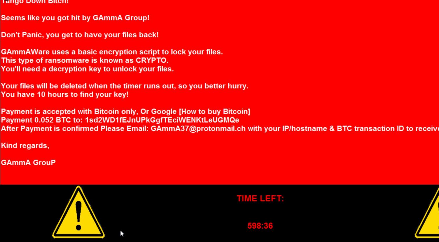 GAmmAWare ransomware