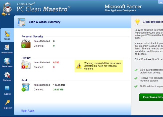 PC Clean Maestro virus