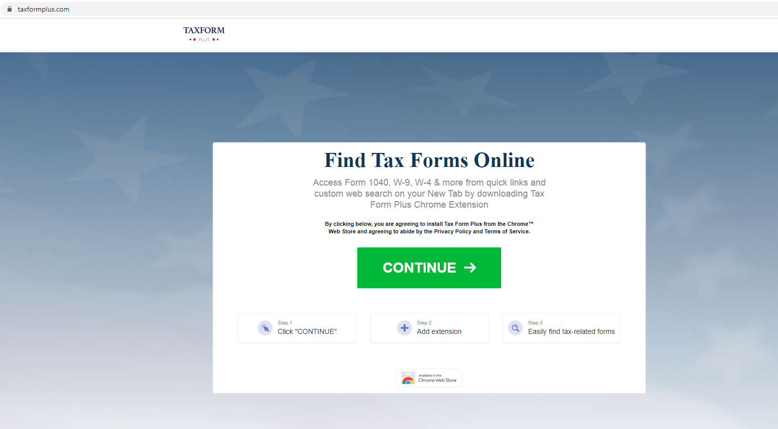Tax Form Plus Virus suppression – Supprimer TaxFormPlus.com