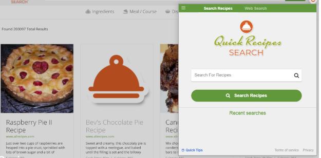Quick Recipes Search