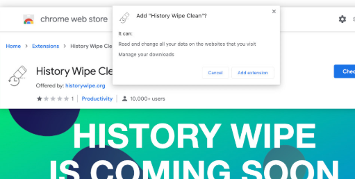 History Wipe Clean Enlèvement