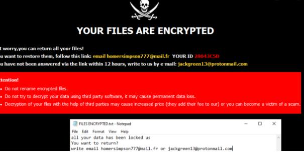Удалить Homer ransomware