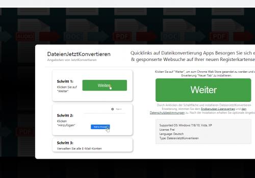 How to remove Jetztkonvertieren.com
