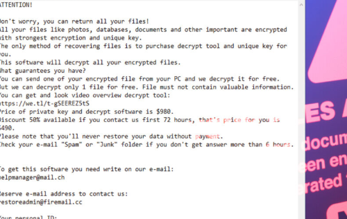 Menghapus Maas ransomware