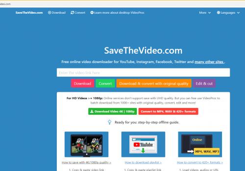เอา Savethevideo.com
