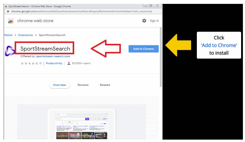 Verwijderen SportStreamSearch