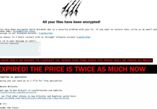 Billy's Apocalypse ransomware Removal