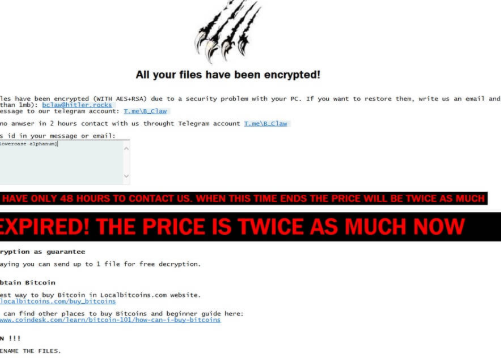 Billy's Apocalypse ransomware fjerning