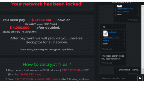 Retirer DarkSide ransomware