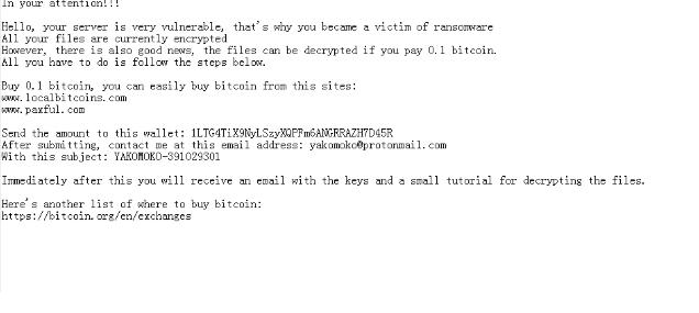 เอา YaKo ransomware