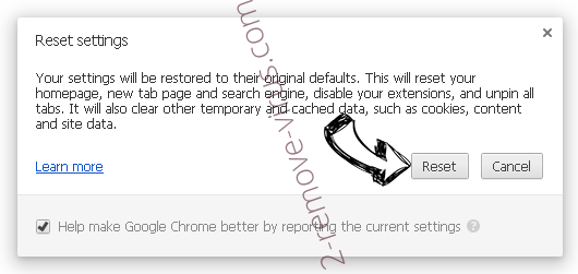 Topstreamssearch.com Chrome reset