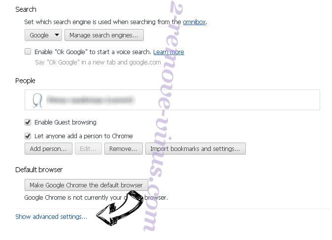 Topstreamssearch.com Chrome settings more
