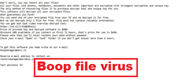 Boop file virus