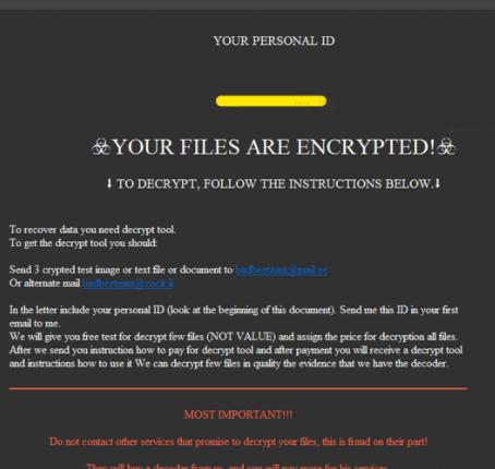 Fjerne CRPTD ransomware