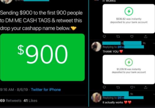 Ta bort Cash App scam