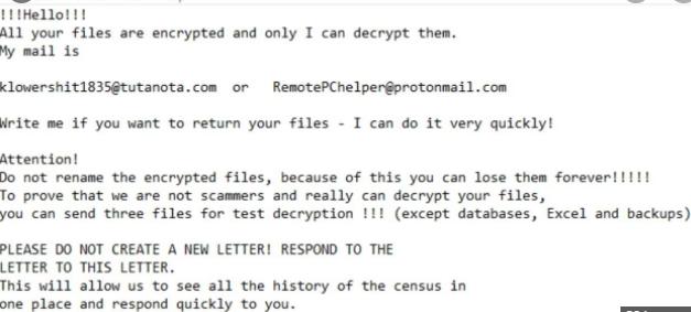 Hbdalna ransomware