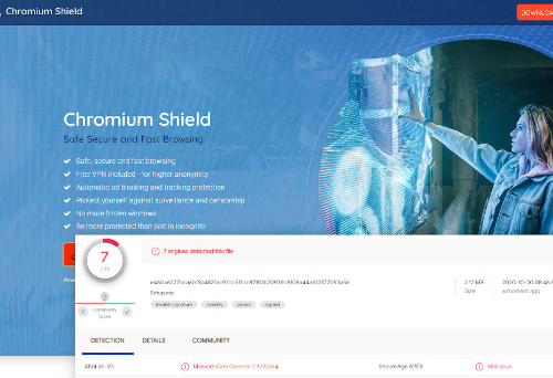 Chromium Shield Enlèvement