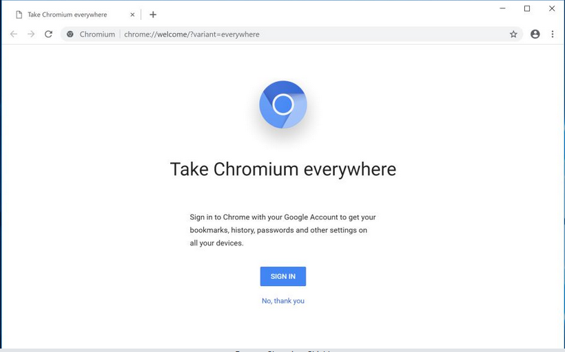 Kaldırmak Chromium Shield browser hijacker