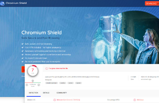 Chromium Shield Poisto