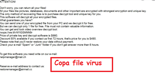 .Copa file virus Fjernelse