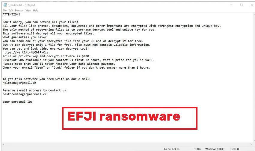 EFJI ransomware