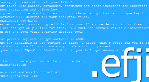 Rimuovere Efji File-Locking Malware