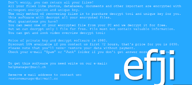 Retirer Efji File-Locking Malware