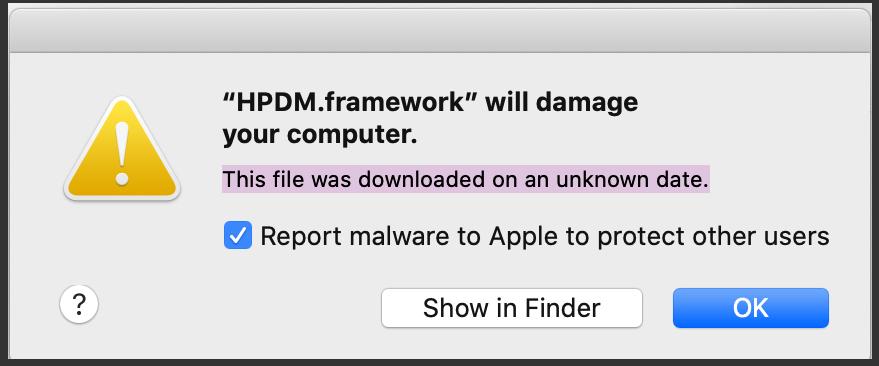 HPDM framework mac