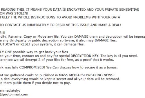 .LeakTheMall file ransomware Odstranění