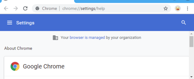 Managed by your organization Chrome Virus Remoção
