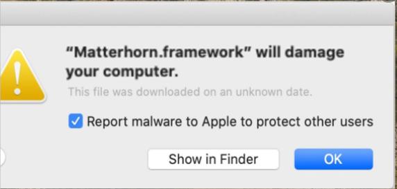 Matterhorn Framework Poisto